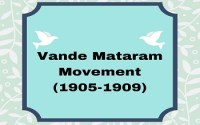 Vande Mataram Movement (1905-1909)