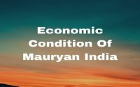 Economic Condition Of Mauryan India