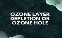 Ozone Layer Depletion or Ozone Hole
