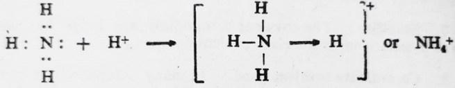 nh4 reaction for coordinate covalent bond - Coordinate Covalent Bond