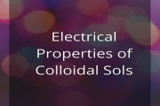 Electrical Properties of Colloidal Sols