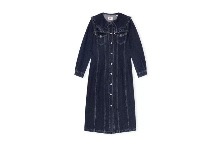 Ganni X Levi's Dark Indigo Denim Dress, £375