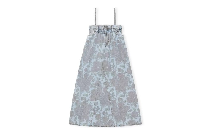 Ganni X Levi's Printed Light Indigo Denim Dress, £325