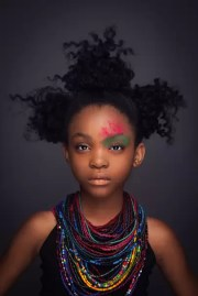 portraits of black girls rocking