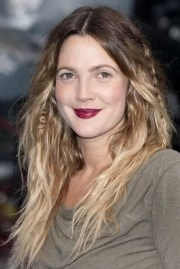 drew barrymore hair short balayage