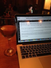 Blogging with legal wine!