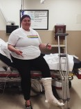 Broken foot :( Sept 2015