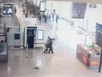 Paris: Security Footage Shows Attacker Rushing Soldier