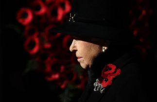 Britain's Queen Elizabeth bows out of Remembrance wreath-laying ceremony