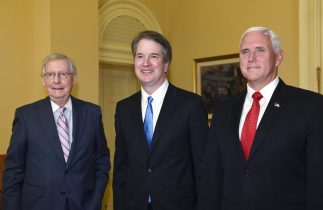 Kavanaugh is on Capitol Hill Rallying Support from Senators Ahead of Confirmation Hearing