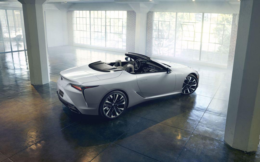 The Lexus LC Convertible Concept in Photos