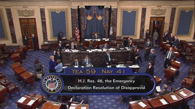 Senate Votes 59-41 To RejectTrump Border Emergency