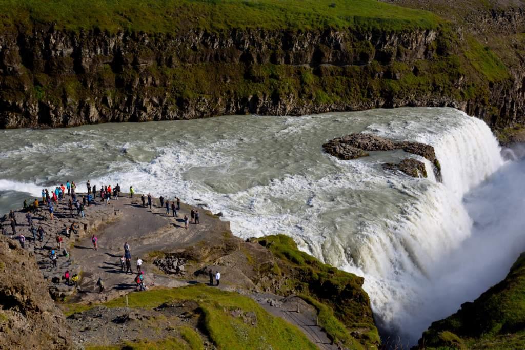Gullfoss waterfall summer