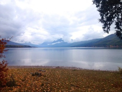 Cloudy fall vista of Lake McDonald
