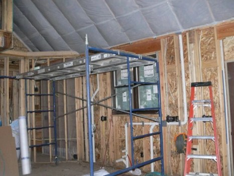 Insulation started!