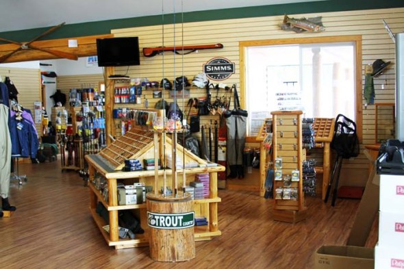 fly fishing section