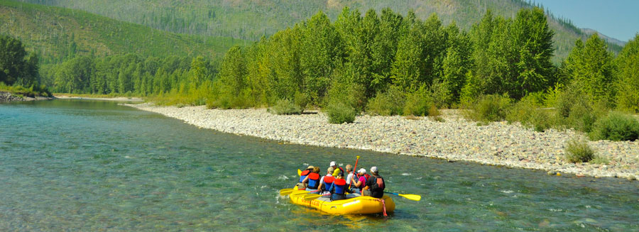 flathead river rafting, half-day scenic float