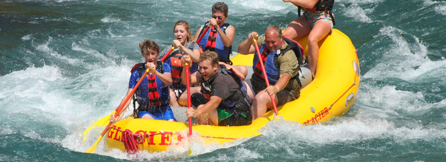 Montana white water rafting, sport raft with dinner trip