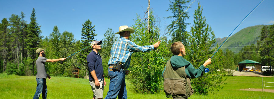montana fishing guides, glacier casting clinic