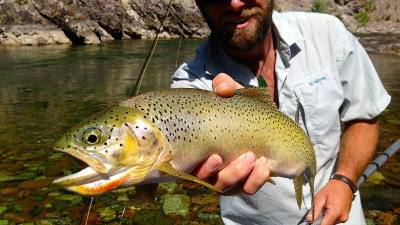Glacier National Park Fishing, Cutthroat Trout, Glacier Raft Company