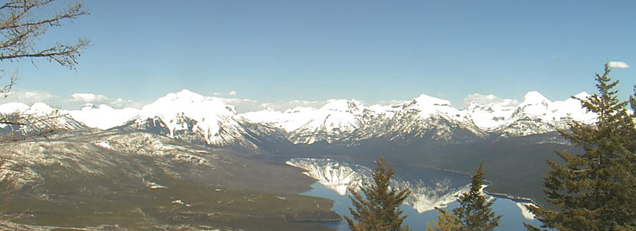 Webcam view of Glacier Park from Apgar Northeast