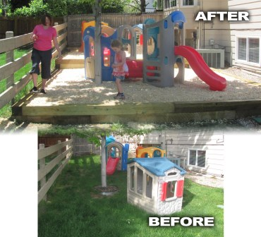 Preschool Playground Addition Before and After