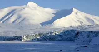 Lodowiec Paula (Paulabreen) zimą. Fot. Jakub Małecki