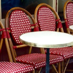 Cafe Rattan French Bistro Chairs Sleek Dining Tables Ny Chair Ca Glac Seat Inc Metal