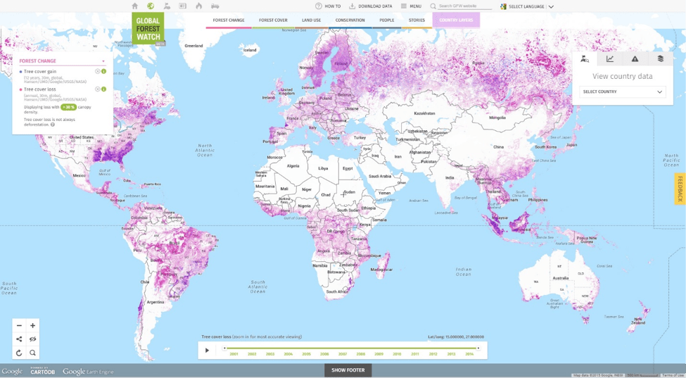 Global forest watch originally began in 1997 as an initiative to establish a global forest monitoring network, convened by the world resources institute and. Global Forest Watch Glad