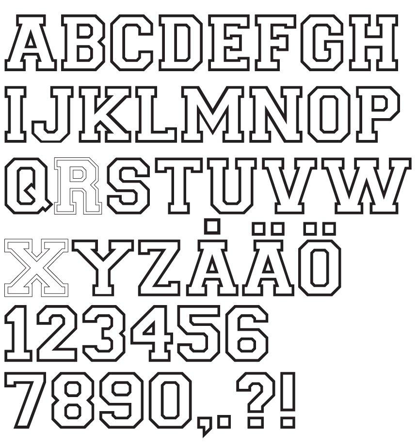 Stryka på bokstäver och siffror