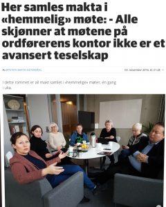 Faksimile fra Bladet Nordlys 3.11.16. Foto: Øystein Barth-Heyerdahl