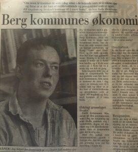 Mitt første ordentlige leserinnlegg i Folkebladet 1994