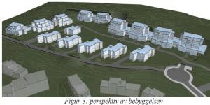 Illustrasjon fra forslaget til reguleringsplanen.