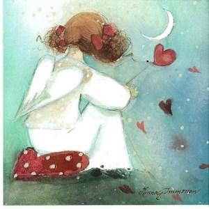 flicka vit hjärtan