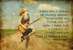 Kvinna gitarr