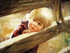 Pojke guld staket