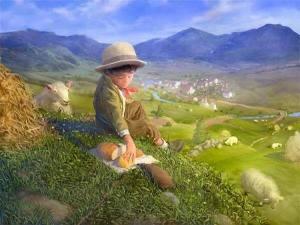 Pojke landsbyggd får