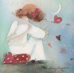 Hjärta flicka röda hjärtan