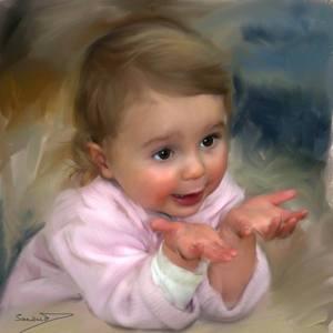 Barn händer