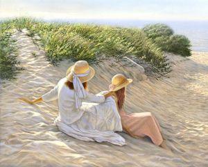 Kvinnor skagen strand