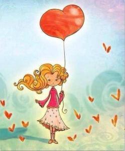 Flicka hjärta