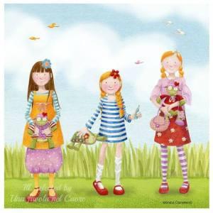 Flickor tre kuliga