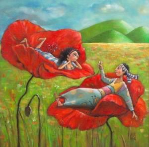 Blommor par