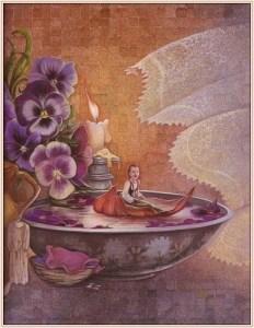 Flicka balja violer