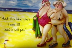 Kvinnor kul bikini