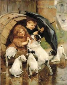Barn valpar vintunna
