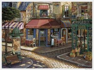 Cafe stad söt
