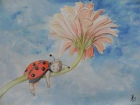 Nyckelpiga blomma kul liten