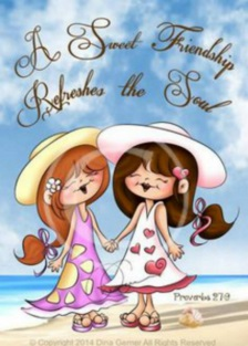 Flickor vänskap liten