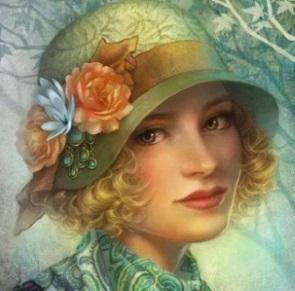 Kvinna grön hatt kopia